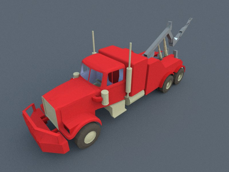 red truck 3d model 3ds dxf dwg skp obj 207608