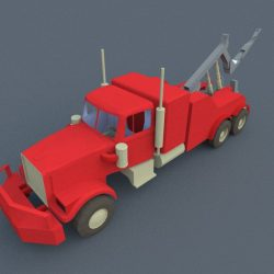 Red Truck 3d model 3ds dxf dwg  obj