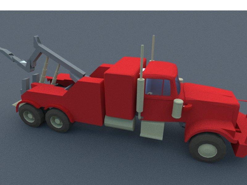 red truck 3d model 3ds dxf dwg skp obj 207610