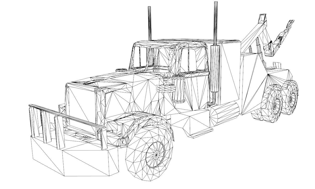 red truck 3d model 3ds dxf dwg skp obj 207611