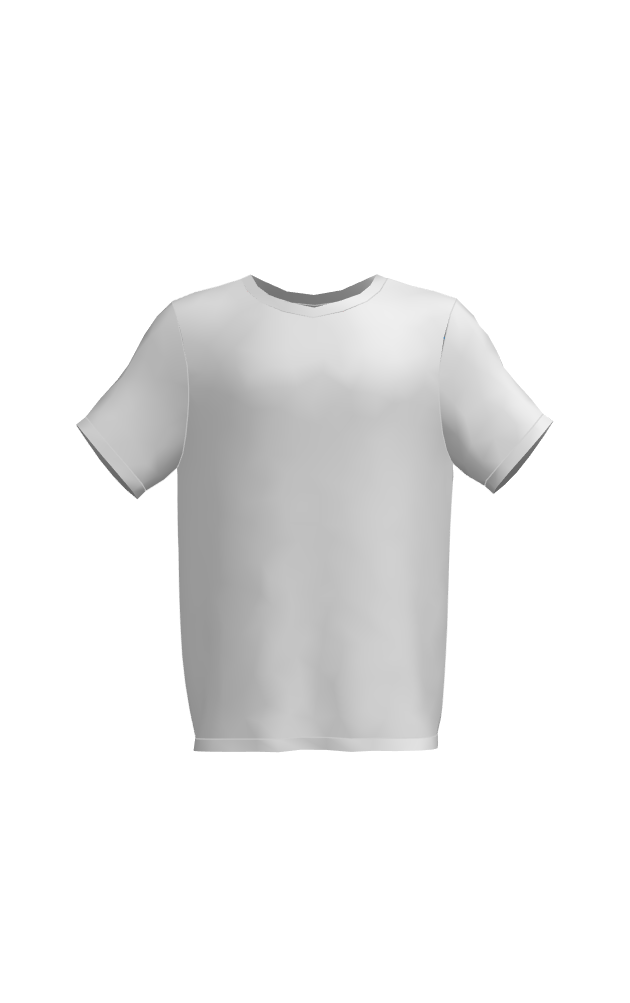 t-shirt low poly blank 3d model obj 207642