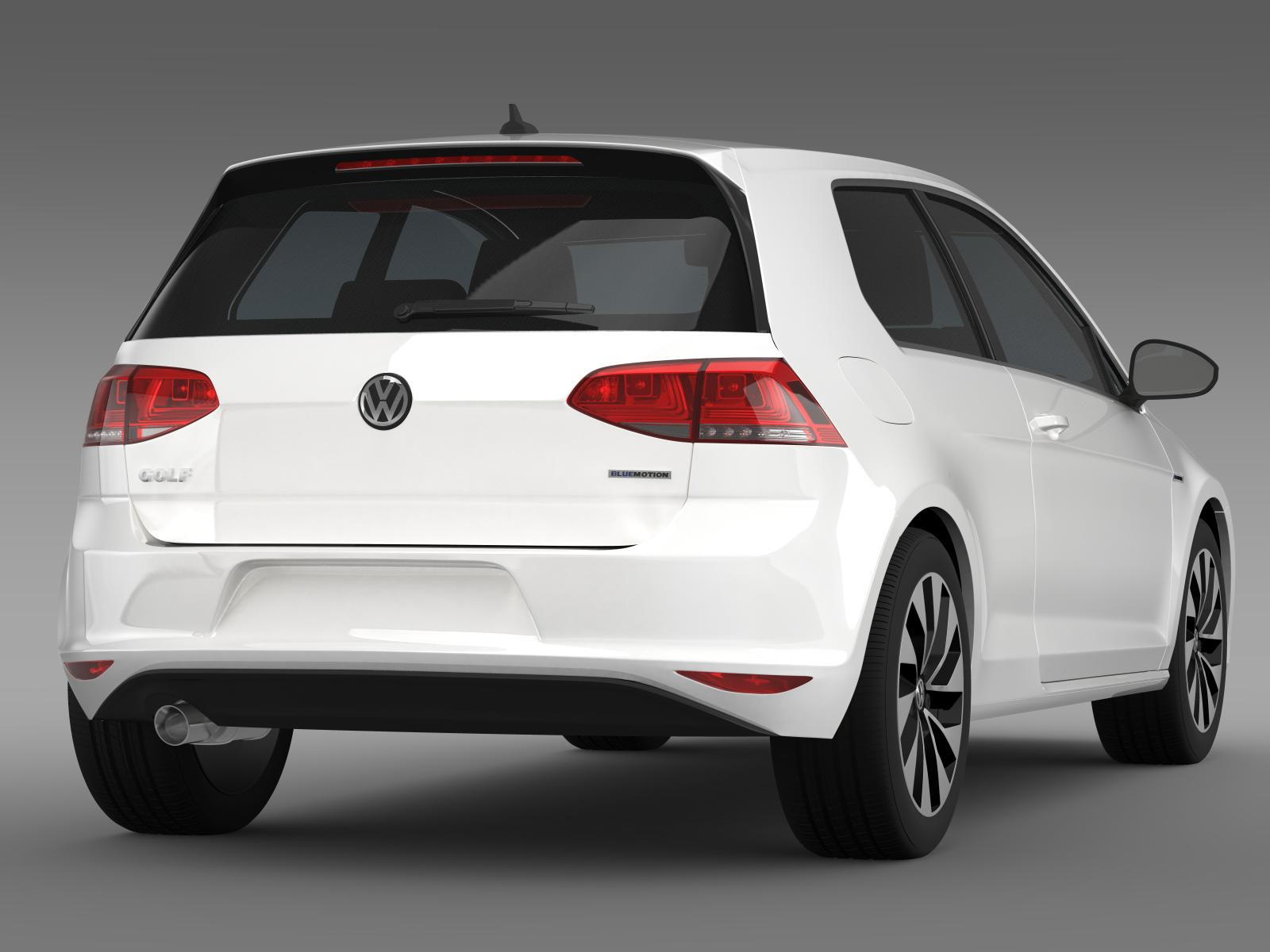 vw golf tdi bluemotion 3 door 2015 3d model buy vw golf tdi bluemotion 3 door 2015 3d model. Black Bedroom Furniture Sets. Home Design Ideas