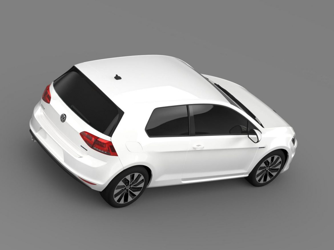 vw golf tdi bluemotion 3 door 2015 3d model 3ds max fbx c4d lwo ma mb hrc xsi obj 207714