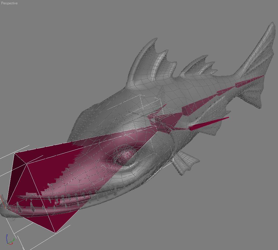 cartoon barracuda fish rigged 3d model 3ds max fbx  obj 207755