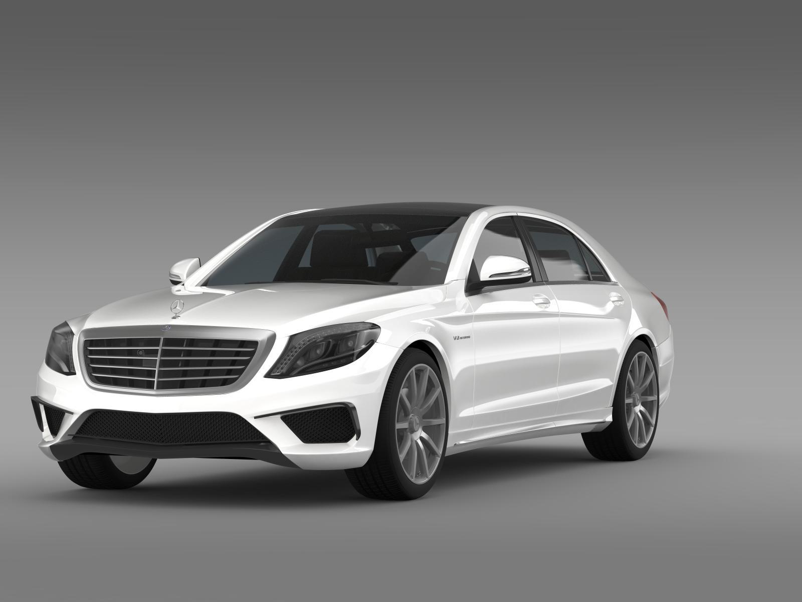 Mercedes benz s 63 amg w222 2013 3d model buy mercedes for Buy a mercedes benz
