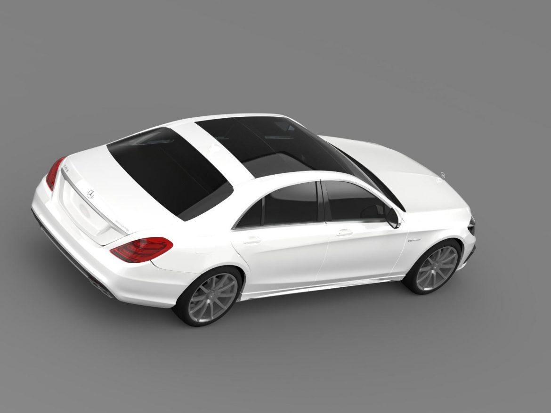 mercedes benz s 63 amg w222 2013 3d model 3ds max fbx c4d lwo ma mb hrc xsi obj 207806