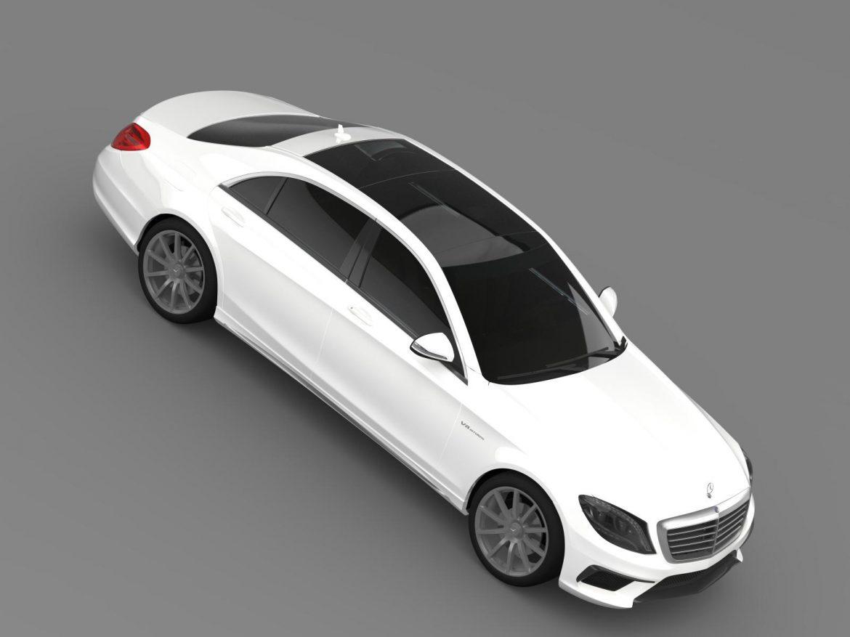 mercedes benz s 63 amg w222 2013 3d model 3ds max fbx c4d lwo ma mb hrc xsi obj 207808
