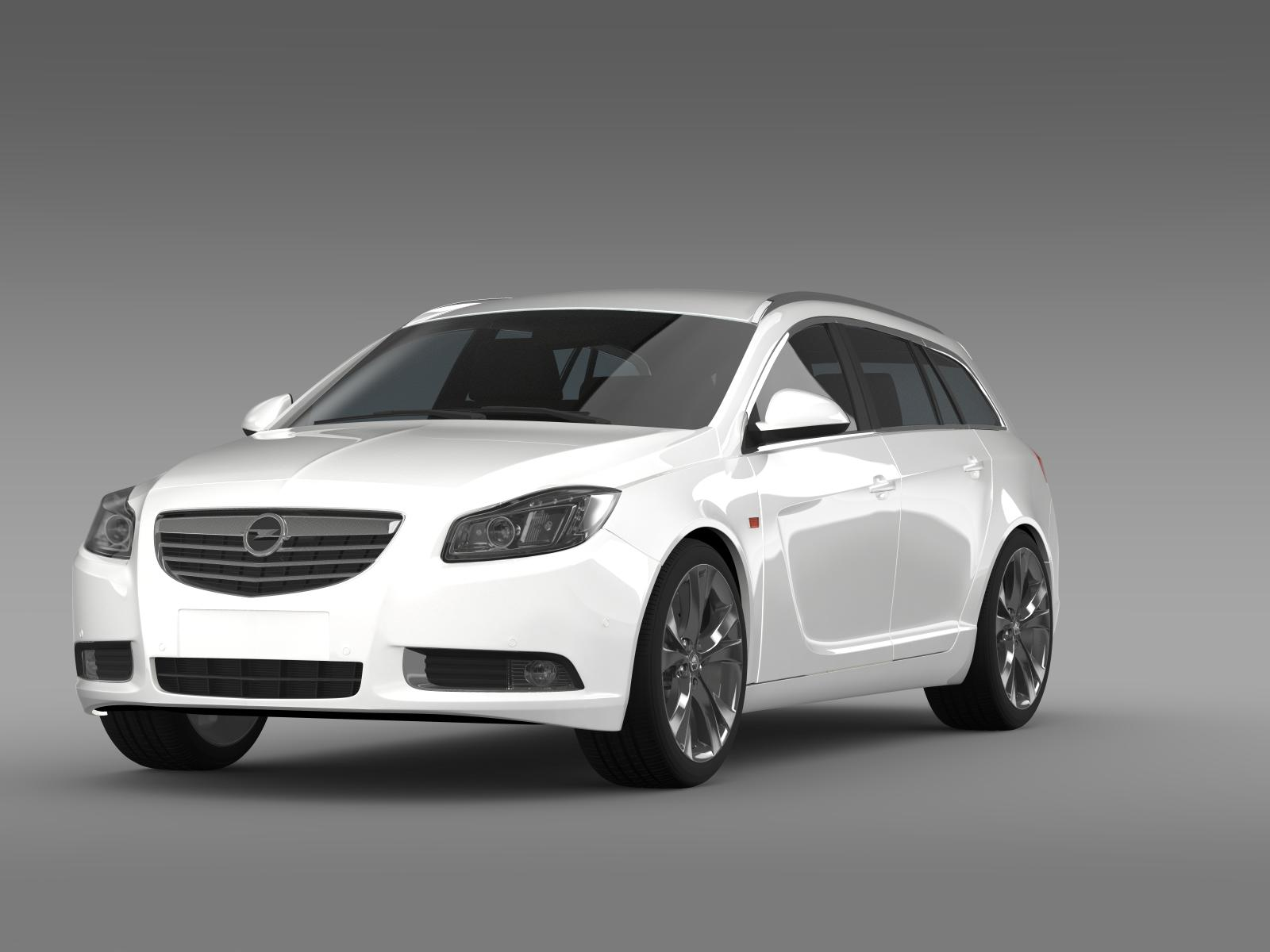 opel insignia biturbo sports tourer 2013 3d model. Black Bedroom Furniture Sets. Home Design Ideas