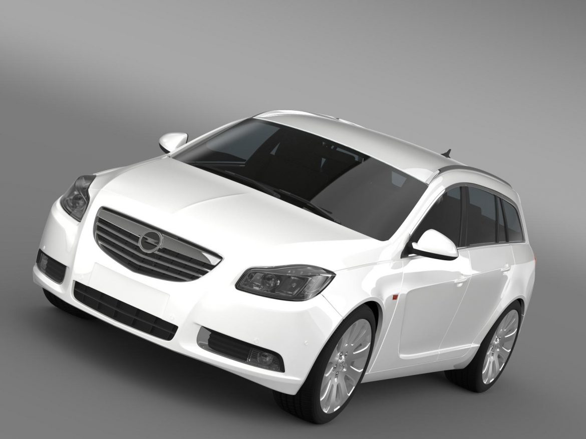 opel insignia turbo 4×4 sports tourer 2013 3d model 3ds max fbx c4d lwo ma mb hrc xsi obj 207876