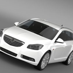 Opel Insignia Turbo 4x4 Sports Tourer 2013 3d model 3ds max fbx c4d lwo lws lw ma mb  obj