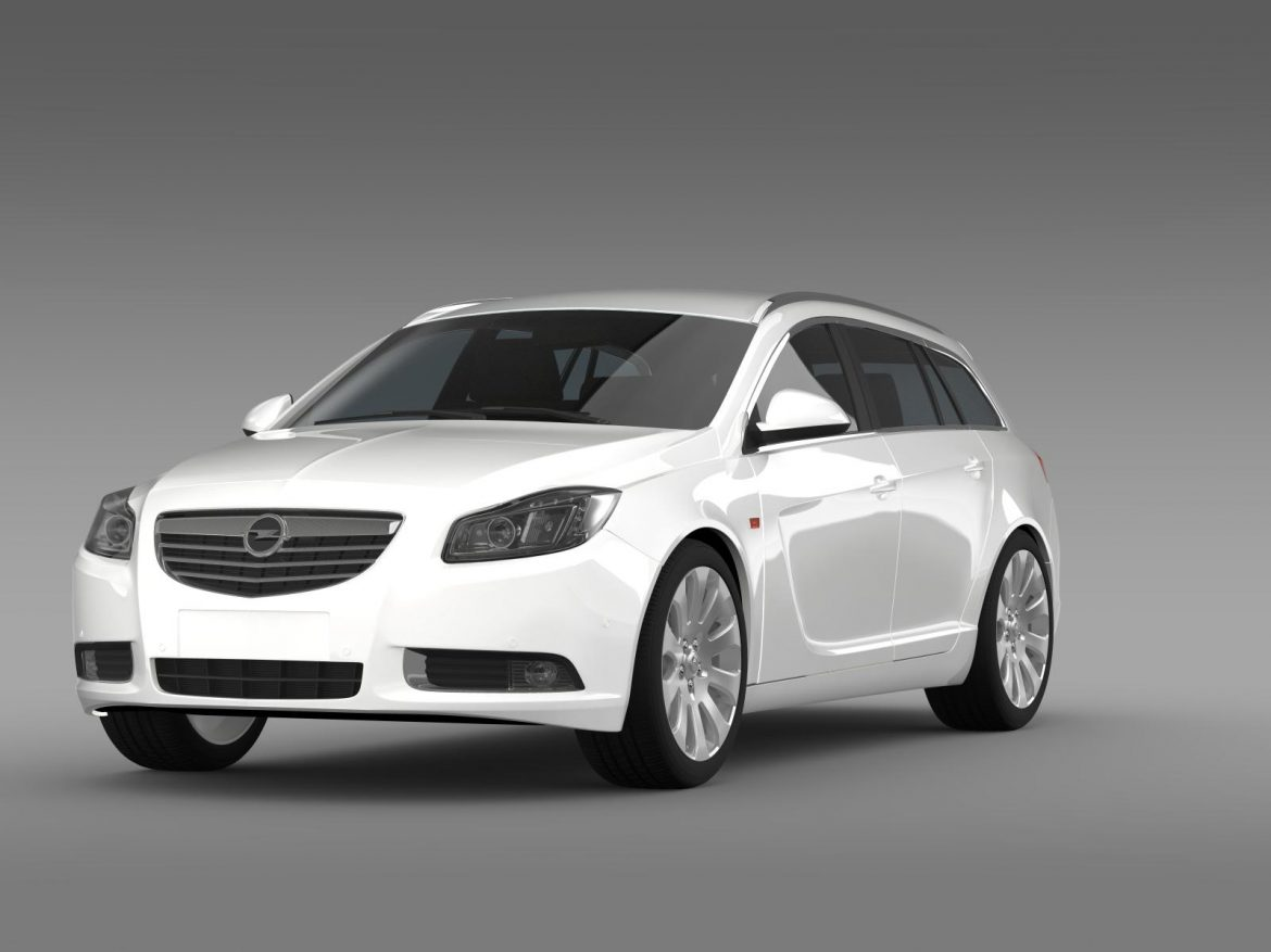 opel insignia turbo 4×4 sports tourer 2013 3d model 3ds max fbx c4d lwo ma mb hrc xsi obj 207879