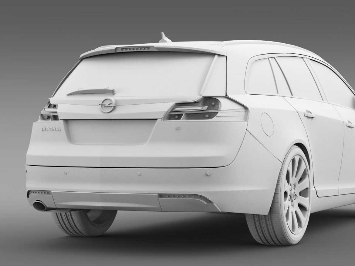 opel insignia turbo 4×4 sports tourer 2013 3d model 3ds max fbx c4d lwo ma mb hrc xsi obj 207891