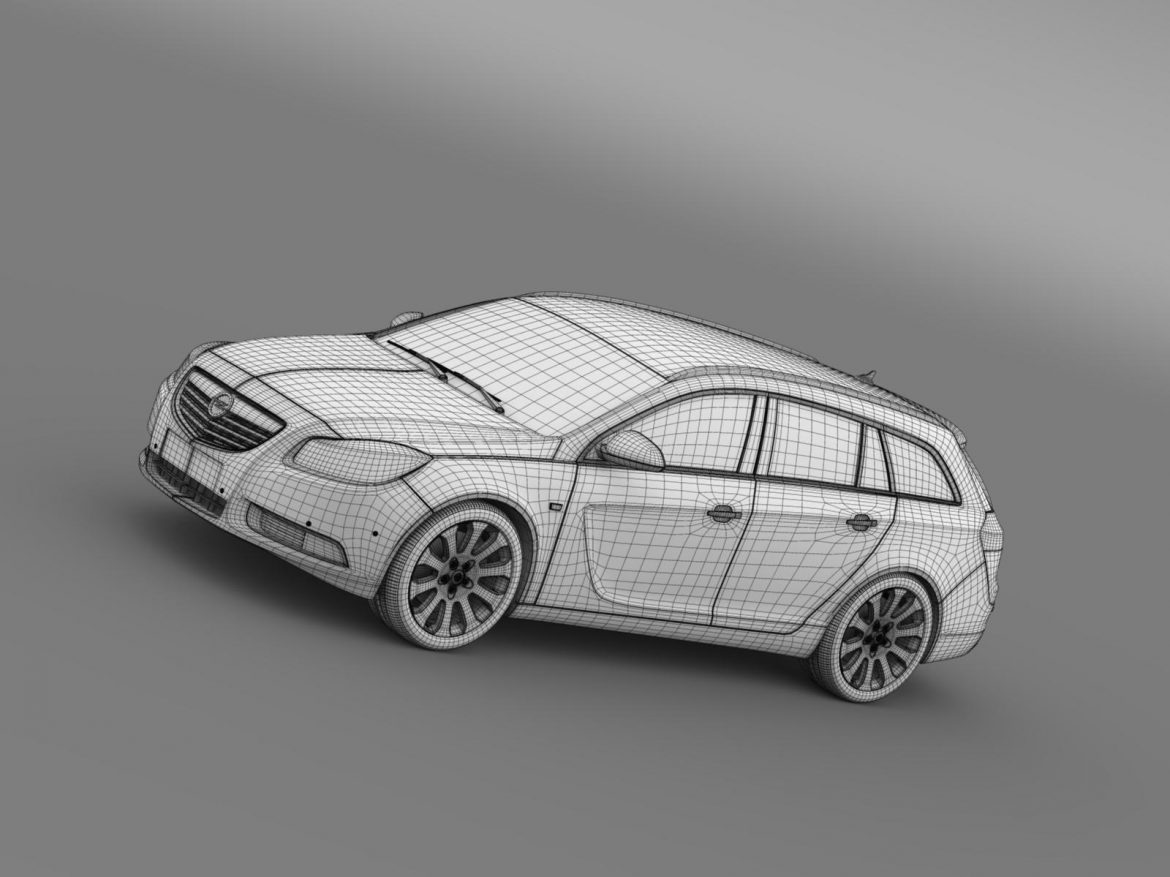 opel insignia turbo 4×4 sports tourer 2013 3d model 3ds max fbx c4d lwo ma mb hrc xsi obj 207892