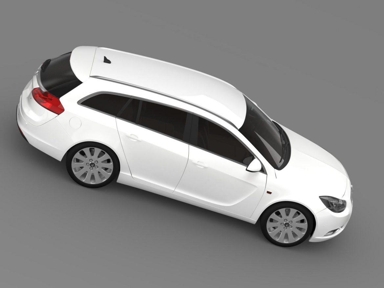 vauxhall insignia 4×4 sports tourer 2013 3d model 3ds max fbx c4d lwo ma mb hrc xsi obj 207926