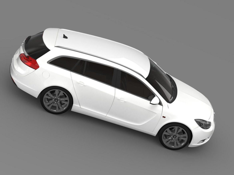 vauxhall insignia sports tourer 2013 3d model max fbx lwo ma mb hrc xsi obj 207946