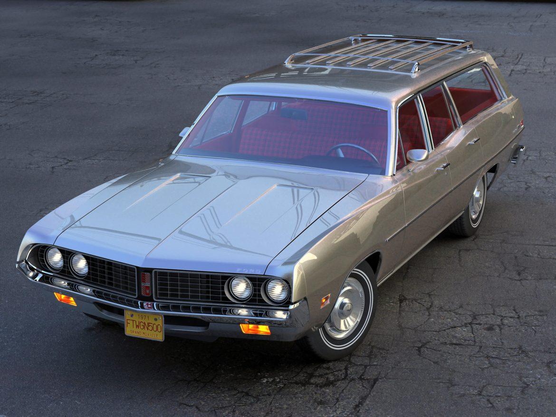 torino wagon 1971 3d model 3ds max fbx blend c4d obj 208036