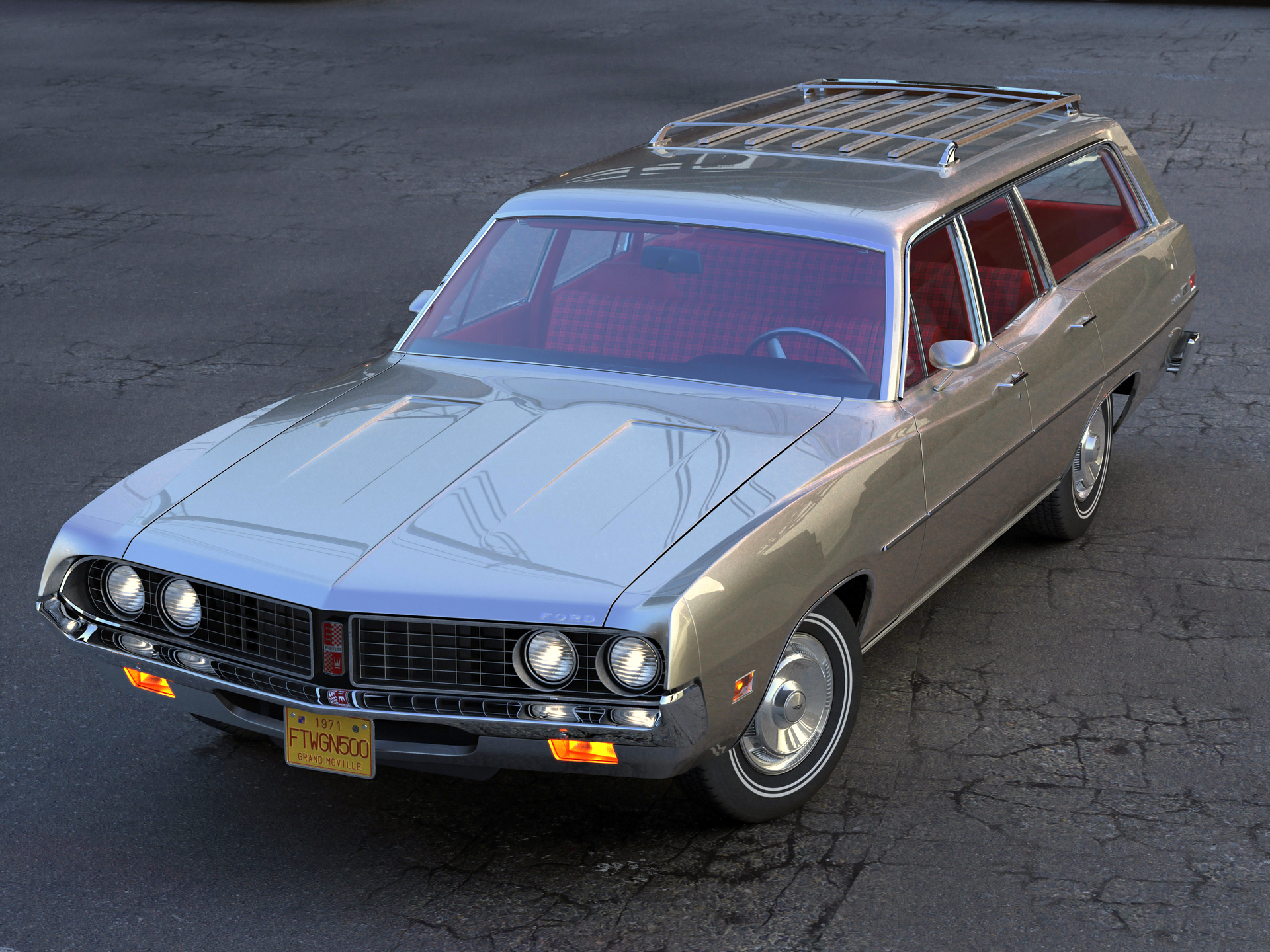 torino wagon 1971 3d model 3ds max fbx blend c4d obj 208036