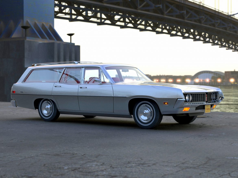 torino wagon 1971 3d model 3ds max fbx blend c4d obj 208041