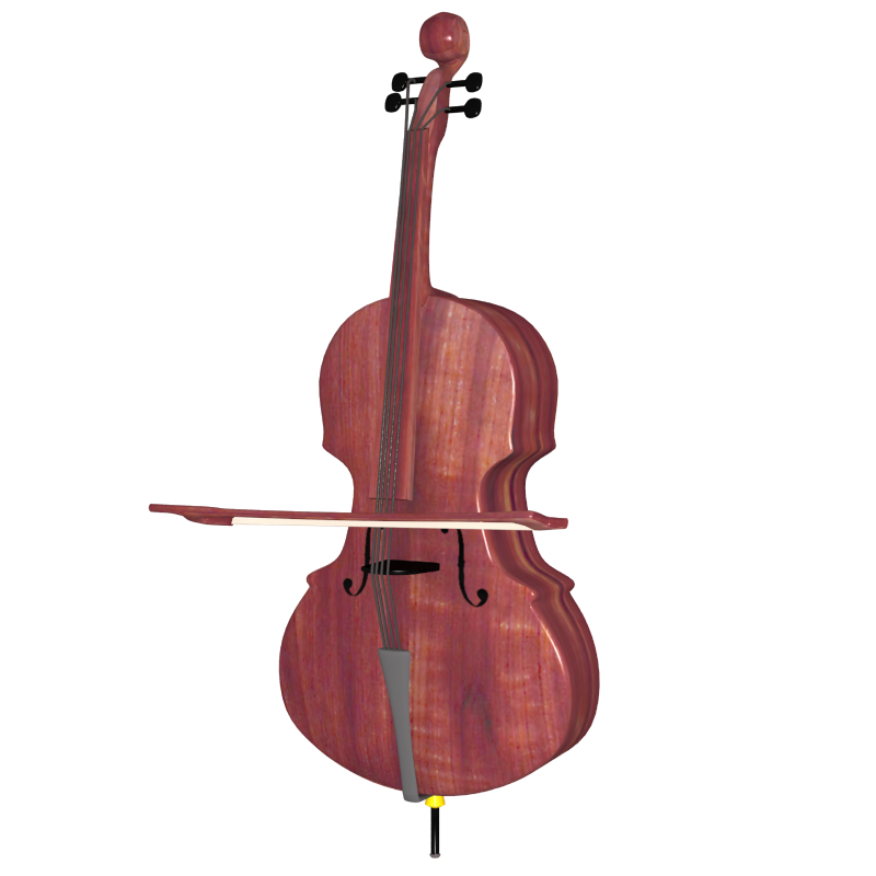 cello 3d model obj 208050
