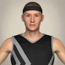 Realistic Male Basketball Player 3d model 0