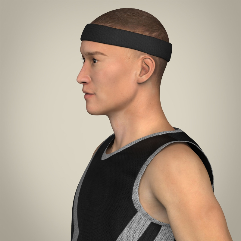 realistic male basketball player 3d model 3ds max fbx c4d lwo ma mb texture obj 208080
