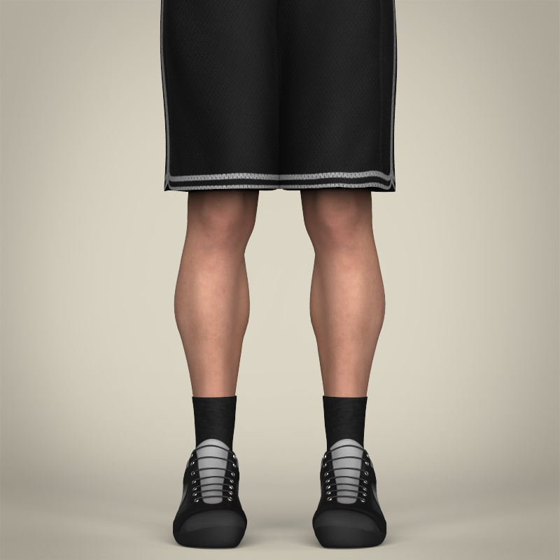 realistic male basketball player 3d model 3ds max fbx c4d lwo ma mb texture obj 208083