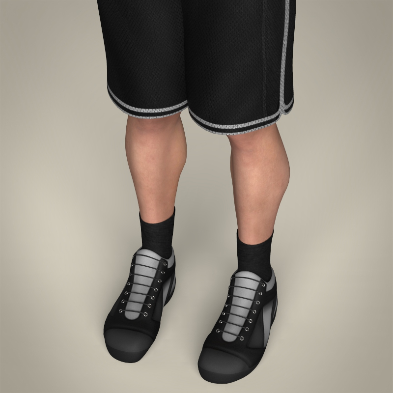 realistic male basketball player 3d model 3ds max fbx c4d lwo ma mb texture obj 208084