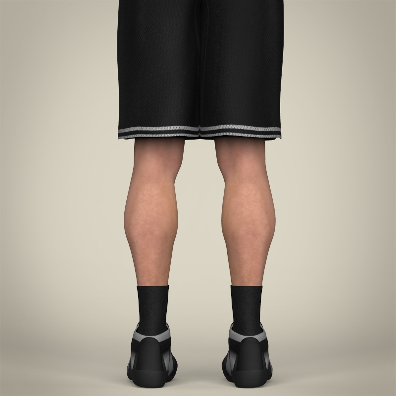 realistic male basketball player 3d model 3ds max fbx c4d lwo ma mb texture obj 208089
