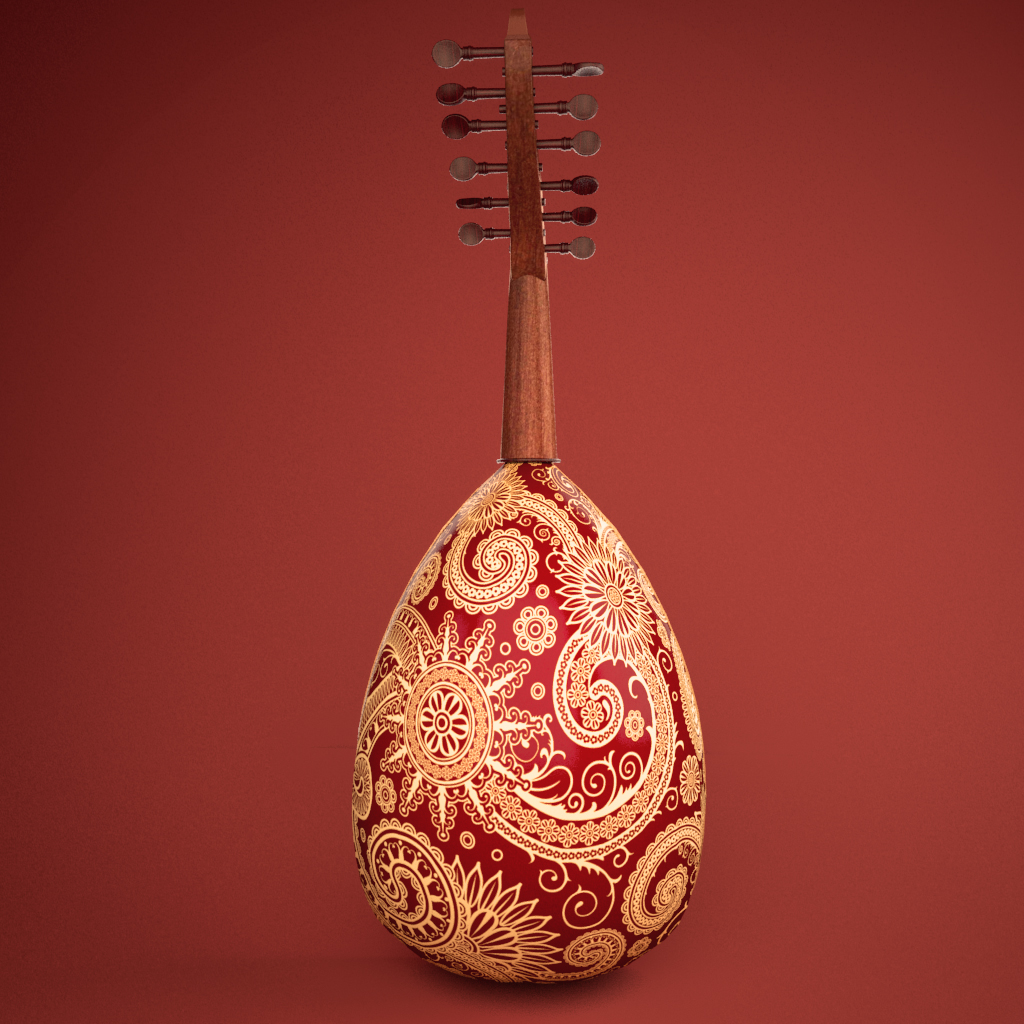 instrument àrab od 3d model 3ds max fbx ma text texture obj 208105