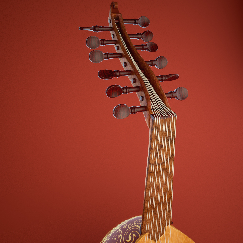 instrument àrab od 3d model 3ds max fbx ma text texture obj 208106