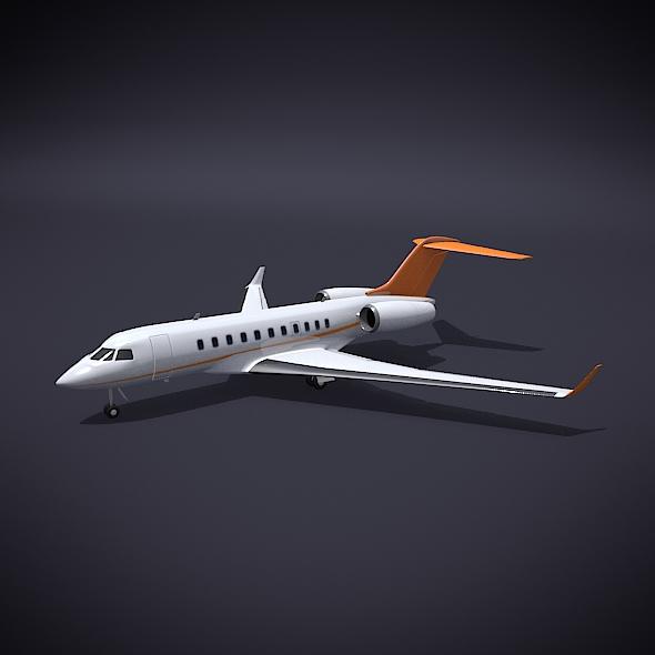 Bombardier 5000 global corporate jet 3d model 3ds fbx blend dae obj 208109