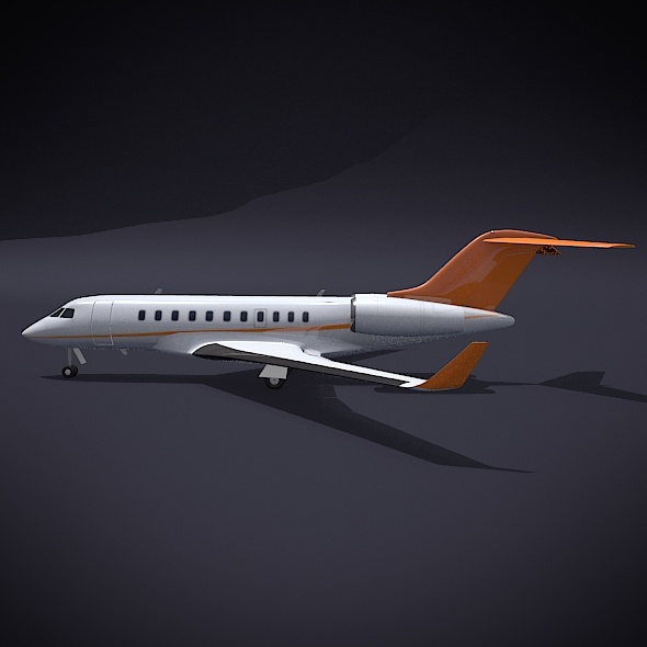 bombardier 5000 global corporate jet 3d model 3ds fbx blend dae obj 208110