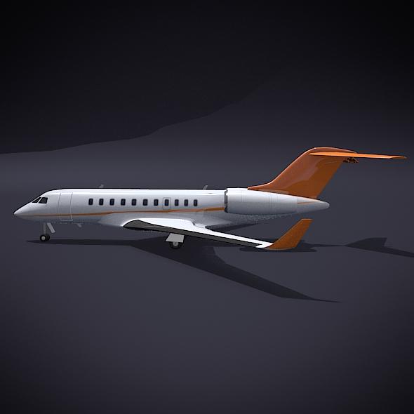 bombardier 5000 globālā korporatīvā strūkla 3d modelis 3ds fbx blend dae obj 208110