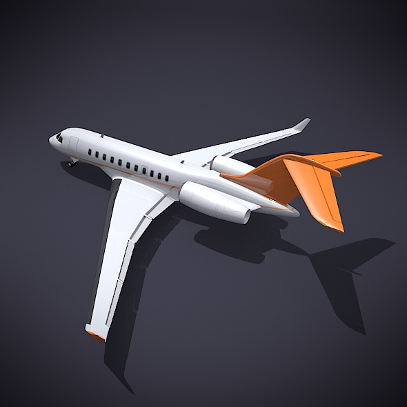 bombardier 5000 globālā korporatīvā strūkla 3d modelis 3ds fbx blend dae obj 208111