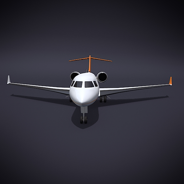 bombardier 5000 global corporate jet 3d model 3ds fbx blend dae obj 208112