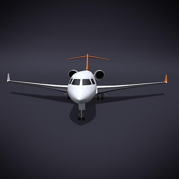 bombardier 5000 globālā korporatīvā strūkla 3d modelis 3ds fbx blend dae obj 208112