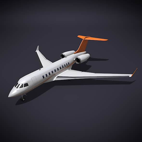 bombardier 5000 global corporate jet 3d model 3ds fbx blend dae obj 208114