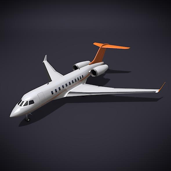bombardier 5000 globālā korporatīvā strūkla 3d modelis 3ds fbx blend dae obj 208114