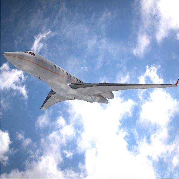bombardier 5000 globālā korporatīvā strūkla 3d modelis 3ds fbx blend dae obj 208115