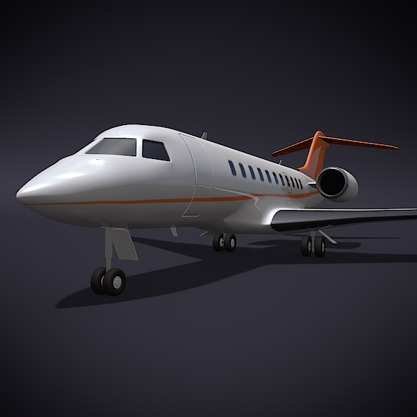 bombardier 5000 global corporate jet 3d model 3ds fbx blend dae obj 208116