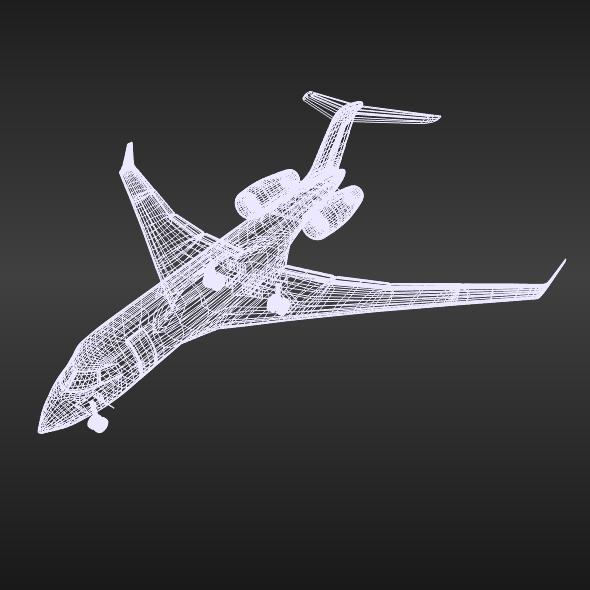 bombardier 5000 globālā korporatīvā strūkla 3d modelis 3ds fbx blend dae obj 208117