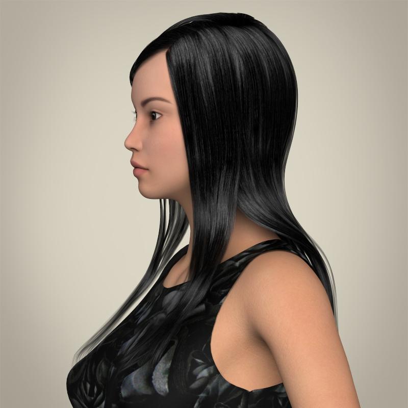 realistic cute sexy girl 3d model 3ds max fbx c4d lwo ma mb texture obj 208121