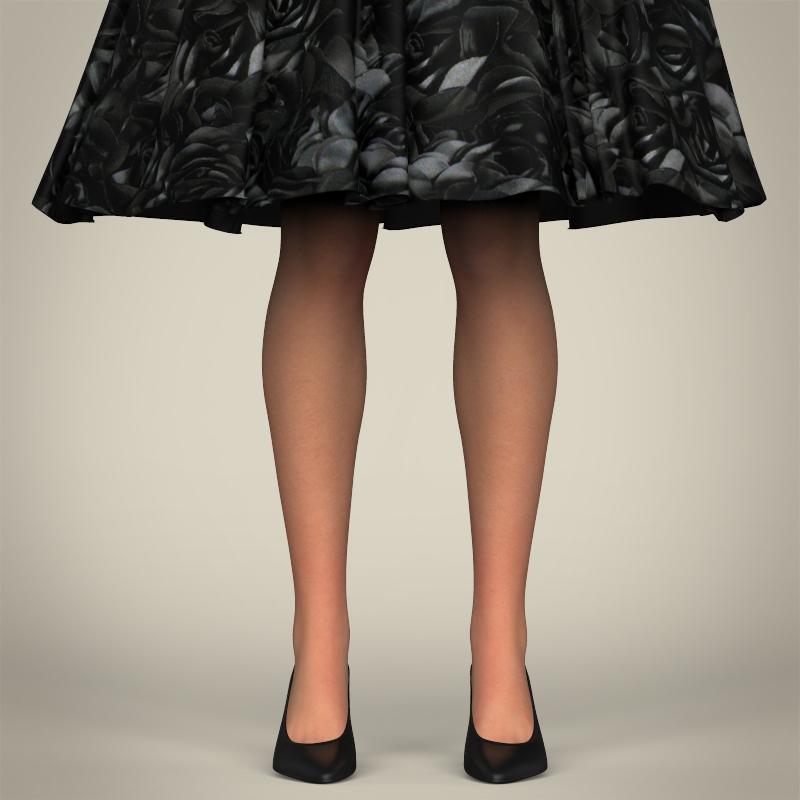 realistic cute sexy girl 3d model 3ds max fbx c4d lwo ma mb texture obj 208124