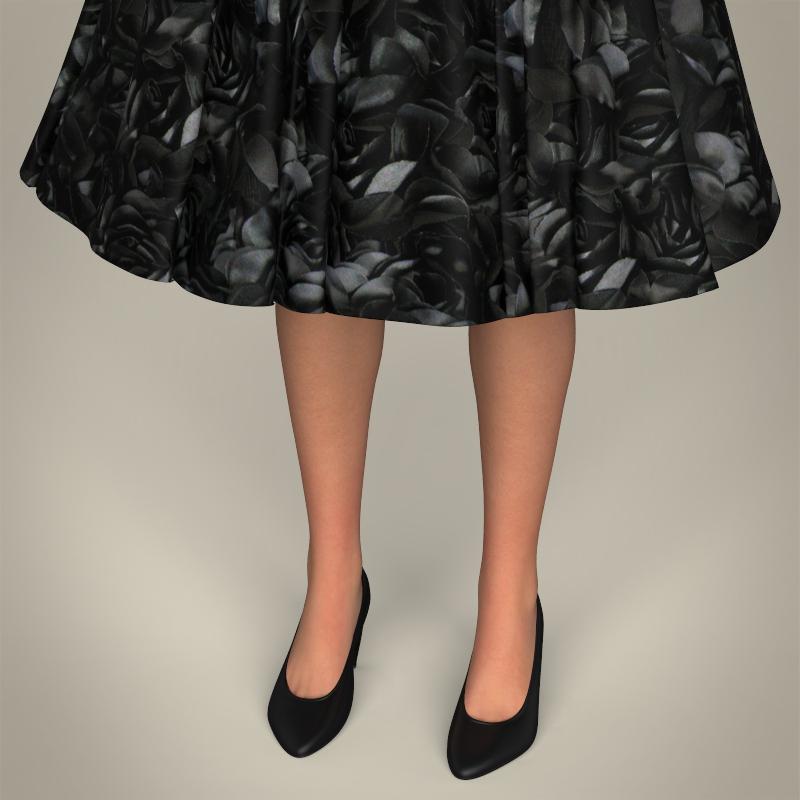realistic cute sexy girl 3d model 3ds max fbx c4d lwo ma mb texture obj 208125