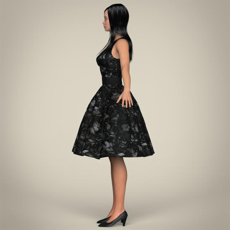 realistic cute sexy girl 3d model 3ds max fbx c4d lwo ma mb texture obj 208128