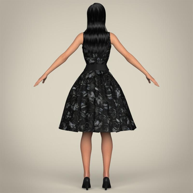 realistic cute sexy girl 3d model 3ds max fbx c4d lwo ma mb texture obj 208131