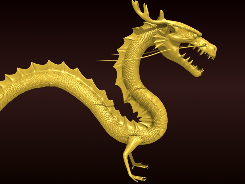 High detailed Chinese dragon 08 ( 212.61KB jpg by hpixel )