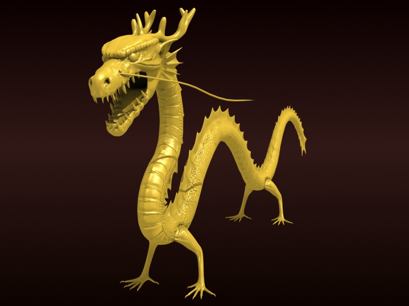 High detailed Chinese dragon 08 ( 183.56KB jpg by hpixel )