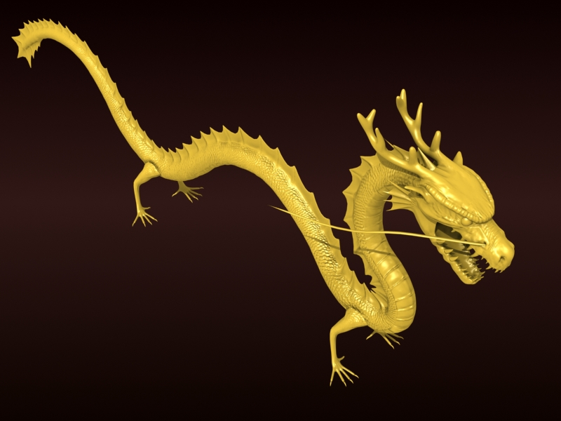 High detailed Chinese dragon 08 ( 188.34KB jpg by hpixel )