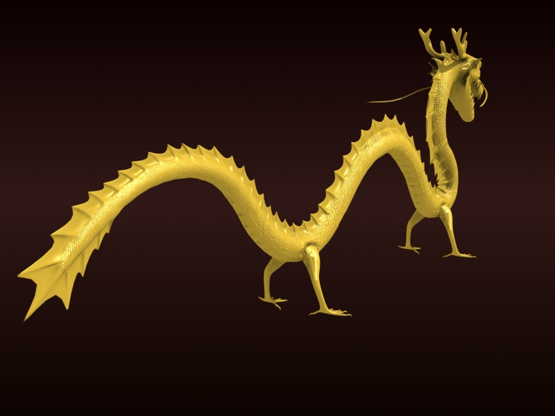 High detailed Chinese dragon 08 ( 172.27KB jpg by hpixel )